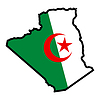 Vector clipart: Map in colors of Algeria
