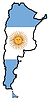 Vector clipart: Map in colors of Argentina