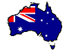 Vector clipart: Map in colors of Australia