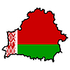 Vector clipart: Map in colors of Belarus