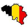 Vector clipart: Map in colors of Belgium
