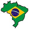 Карта цветов в Бразилии