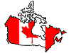 Vector clipart: Map in colors of Canada