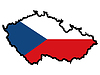 Vector clipart: Map in colors of Czech Republic