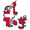 Vector clipart: Map in colors of Denmark