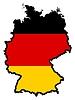Карта в расцветке флага Германии