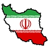 Vector clipart: Map in colors of Iran