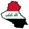 Vector clipart: Map in colors of Iraq
