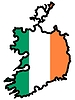 Vector clipart: Map in colors of Ireland