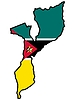 Vector clipart: Map in colors of Mozambique