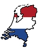 Vector clipart: Map in colors of Netherlands