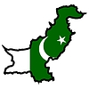 Vector clipart: Map in colors of Pakistan