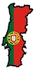 Vector clipart: Map in colors of Portugal