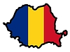Vector clipart: Map in colors of Romania