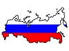Map in colors of Russia