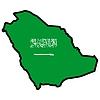 Vector clipart: Map in colors of Saudi Arabia