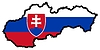 Vector clipart: Map in colors of Slovakia