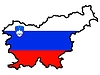 Vector clipart: Map in colors of Slovenia