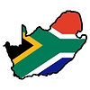 Vector clipart: Map in colors of South Africa