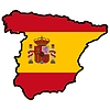 Vector clipart: Map in colors of Spain