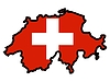 Vector clipart: Map in colors of Switzerland