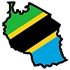 Vector clipart: Map in colors of Tanzania