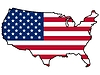 Карта с флагом США