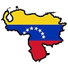 Vector clipart: Map in colors of Venezuela