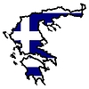 Vector clipart: Map in colors of Greece