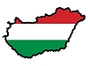Vector clipart: Map in colors of Hungary