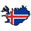 Vector clipart: Map in colors of Iceland