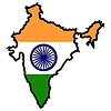Vector clipart: Map in colors of India