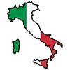 Vector clipart: Map in colors of Italy