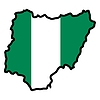 Vector clipart: Map in colors of Nigeria