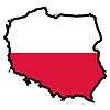 Map in colors of Poland