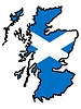 Vector clipart: Map in colors of Scotland