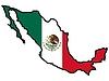 Karte in den Farben von Mexiko