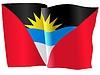 Векторный клипарт: развевающийся флаг Антигуа и Барбуда