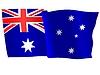 Векторный клипарт: размахивать флагом Austalia
