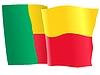 Векторный клипарт: развевающийся флаг Бенин