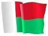 Vektor Cliparts: wehende Flagge von Madagaskar