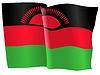 Векторный клипарт: развевающийся флаг Малави