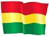 Векторный клипарт: развевающийся флаг Боливии