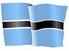 Векторный клипарт: развевающийся флаг Ботсваны