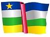 Векторный клипарт: развевающийся флаг Центрально-Африканской Республики