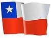 Векторный клипарт: развевающийся флаг Чили