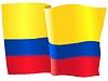 Векторный клипарт: развевающийся флаг Колумбии