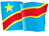 Векторный клипарт: развевающийся флаг Конго