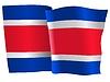 Векторный клипарт: развевающийся флаг Коста-Рики