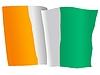 Векторный клипарт: развевающийся флаг Кот-д
